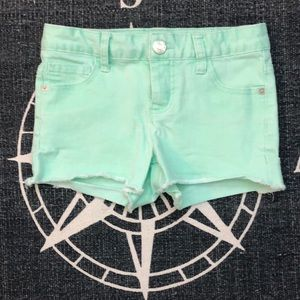 Girl's Mint Green Jean Short